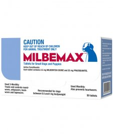 Milbemax Allwormer For Small Dogs 0.5-5kg 50 Tablets