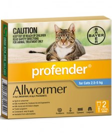 Profender Wormer For Cats 2-5Kg