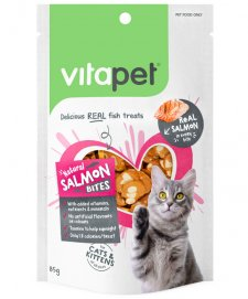 Vitapet Cat Treats Salmon Bites 85g