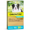 Bay-O-Pet Drontal Allwormer for Dogs 10kg Chews 20Pack