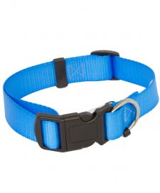 Beaupets Collar Polyware Adjustable 28-45Cm Lite Blue