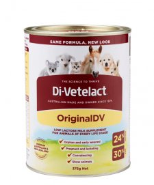 Di-Vetelact 375g Can Low lactose Animal Supplement