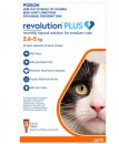 Revolution Plus for Cats 2.6-5Kg 3Pack