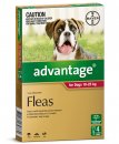 Advantage Dog 10-25Kg Large Red 4Pack