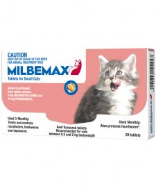 Milbemax Allwormer For Small Cats 0.5-2kg 20 Tablets