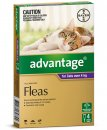 Advantage Cat Over 4Kg Large Purple 4Pack