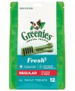 Greenies Canine Snacks Treat-Pak Regular Mint 340g 12pack