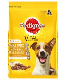 Pedigree Adult Small Breed Beef/Veg 2.5kg