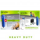 Andis HeavyDuty EasyClip MBG2 Clipper Blue with 6 Guide Combs