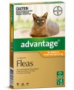 Advantage Cat 0-4Kg Small Orange 4Pack