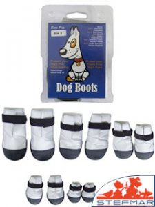 Beaupets Dog Boot Nylon Size 3 Silver Set 2
