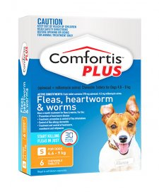 Comfortis Plus Dog 6 Pack Orange 4.6-9Kg