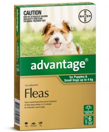 Advantage Dog 0-4Kg Small Green 6Pack