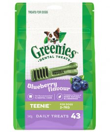 Greenies Canine Snacks Treat-Pak Teenie Blueberry 340g