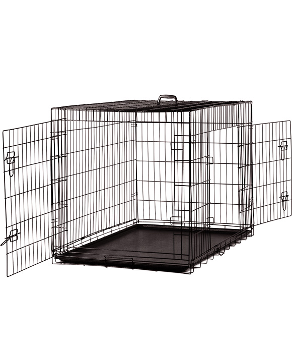 "Bonofido Collapsible Crate Black 42"" Plastic Tray 108W72Dx79Hcm"